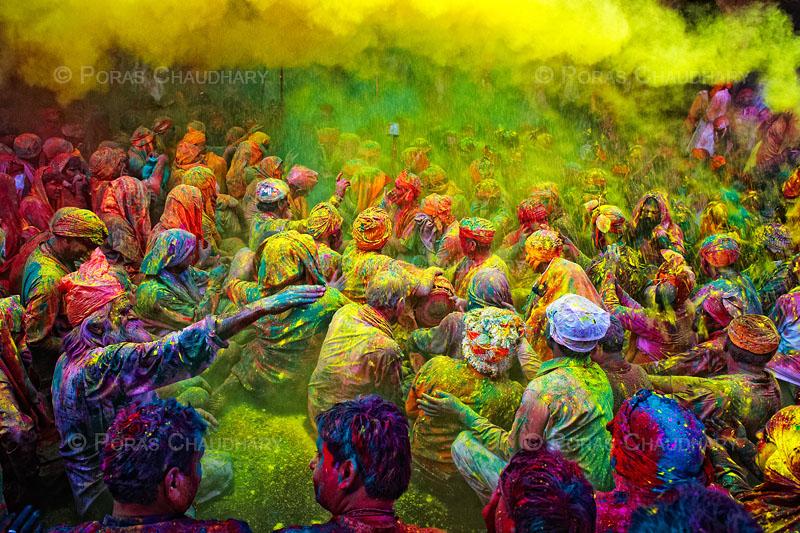 India during Holi Festival