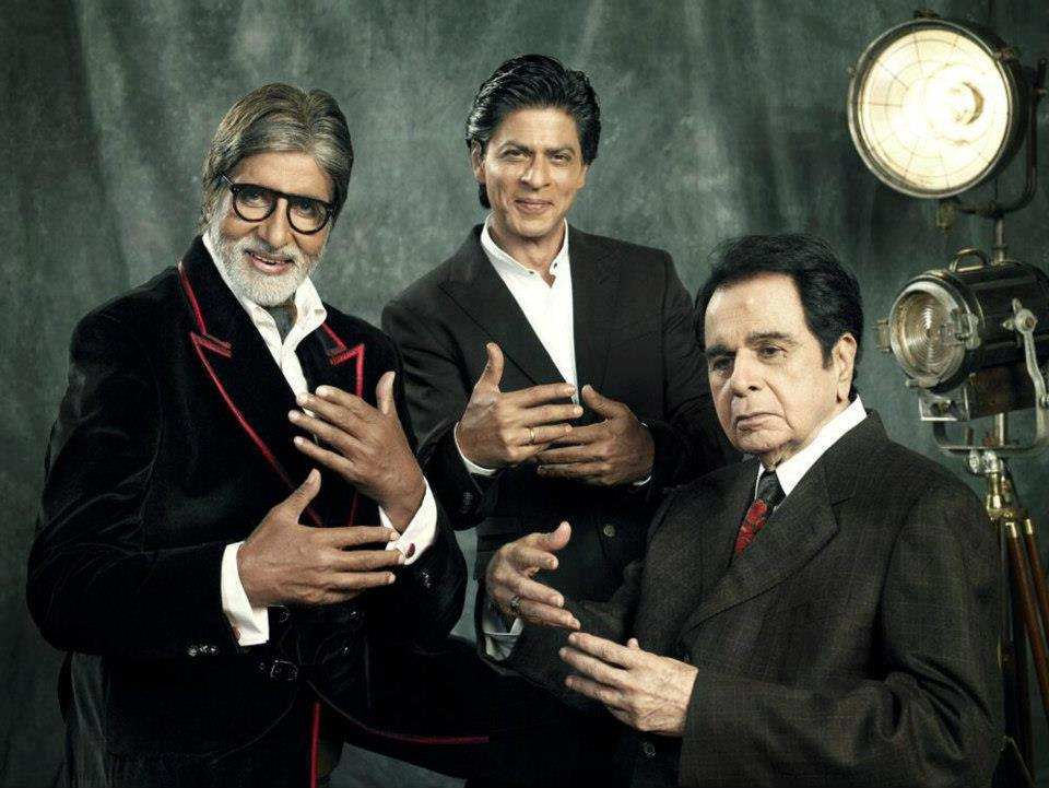 3 legends of Indian Cinema. Dilip Kumar, Amitabh Bacchan and Shah Rukh Khan