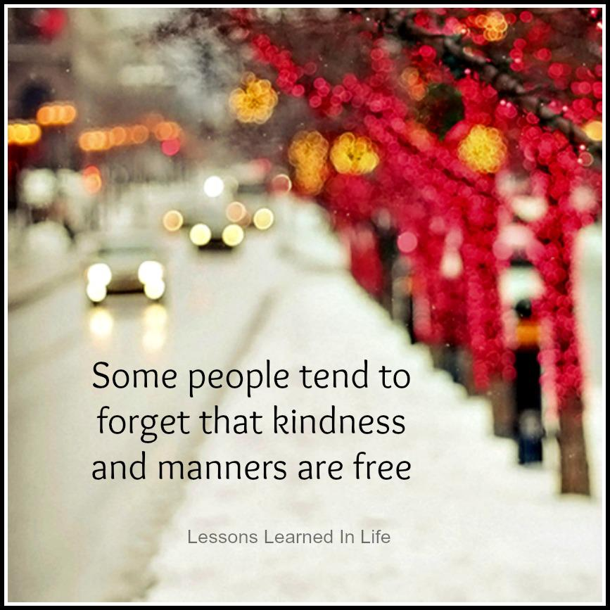 kindness and manners