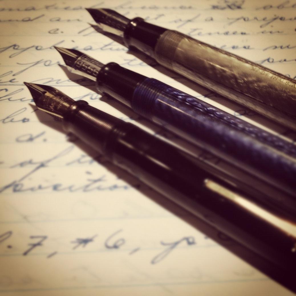 Картинки ручек которыми писали писатели